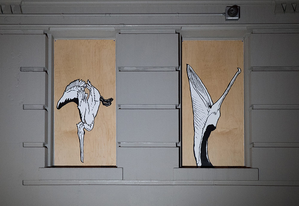 Paintings of Brown Pelicans by Jason Covert (click image to embiggen).