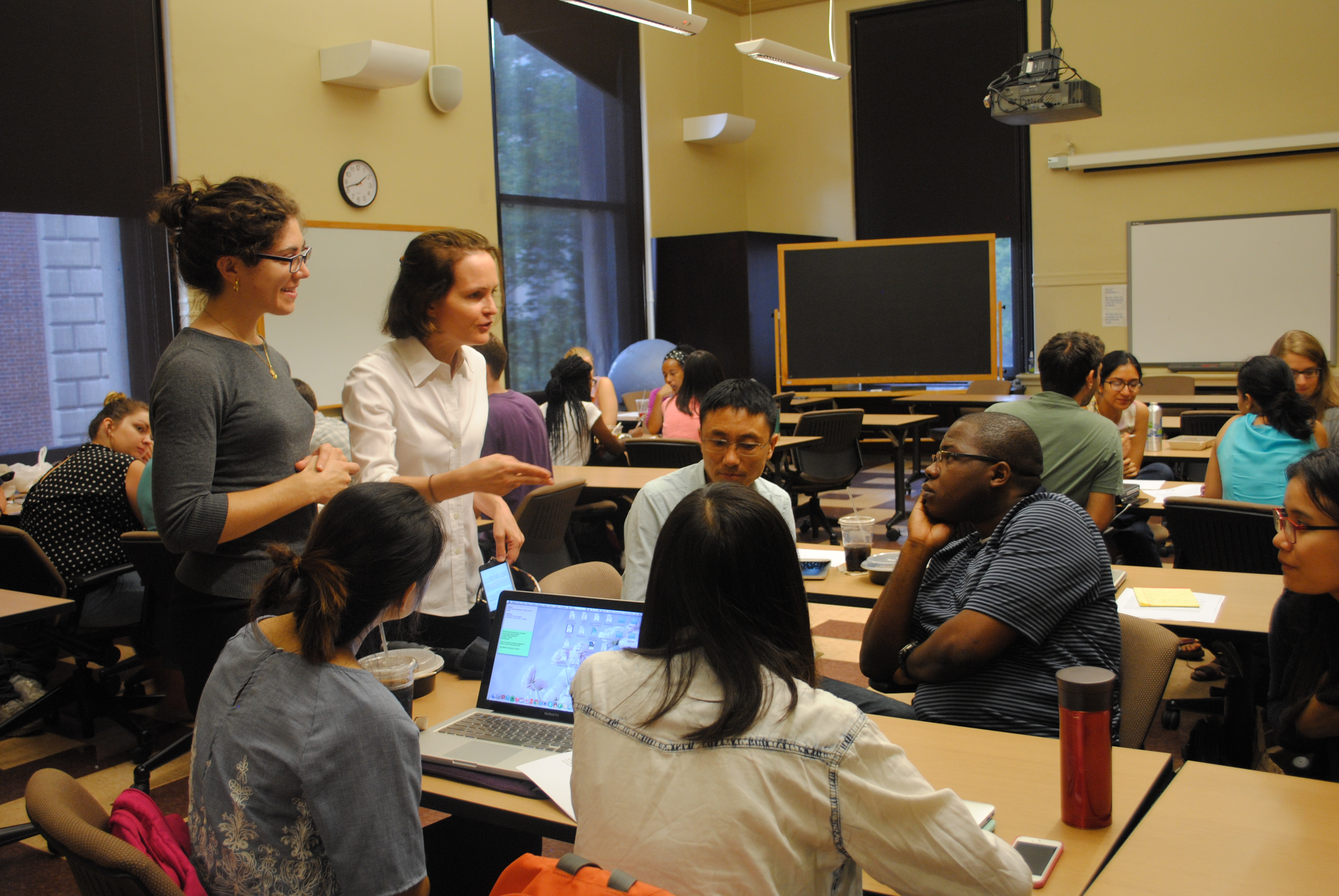 Massie consults with a master's class in Climate & Society at Columbia University.