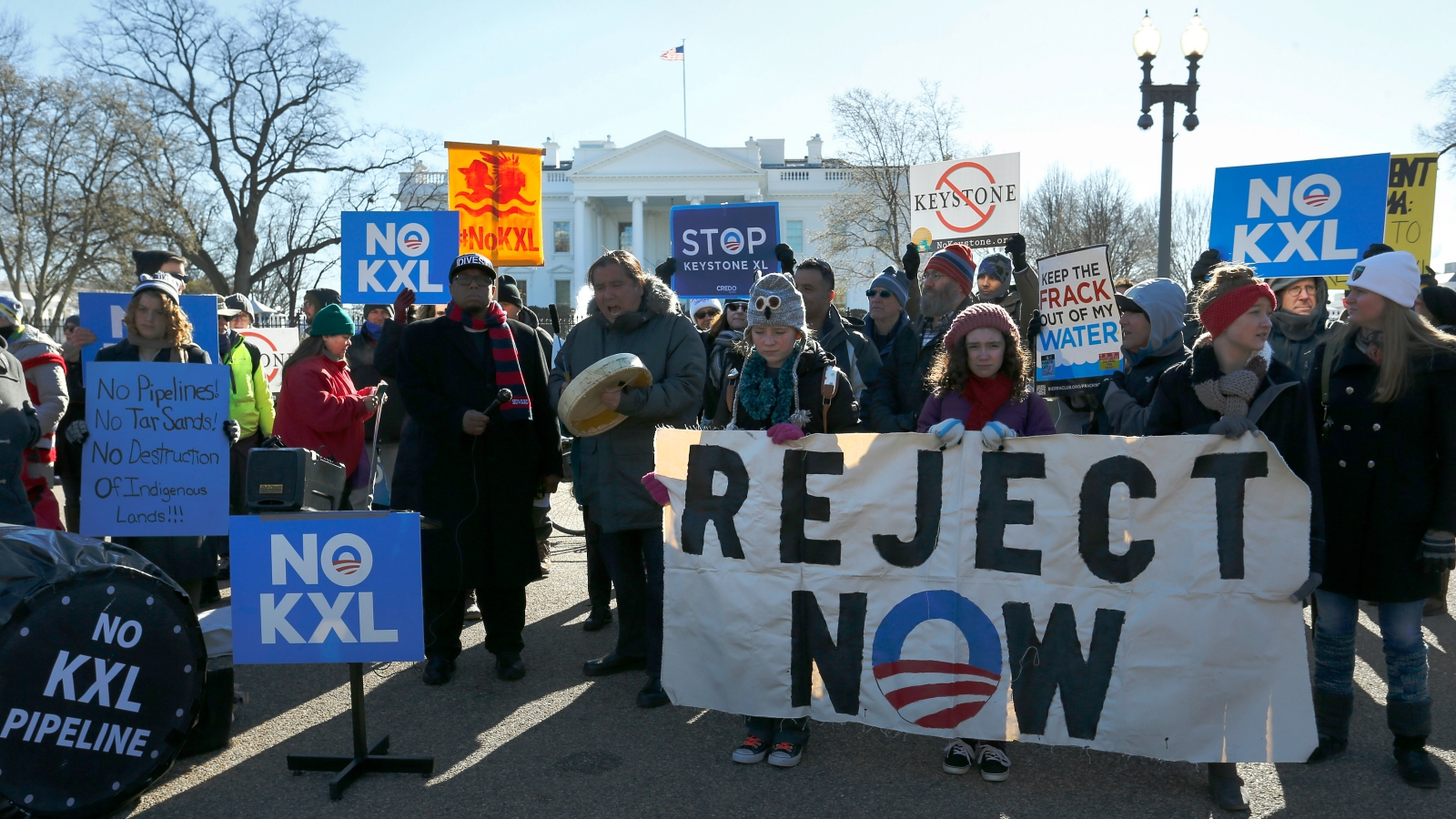 Keystone protest in front of White House