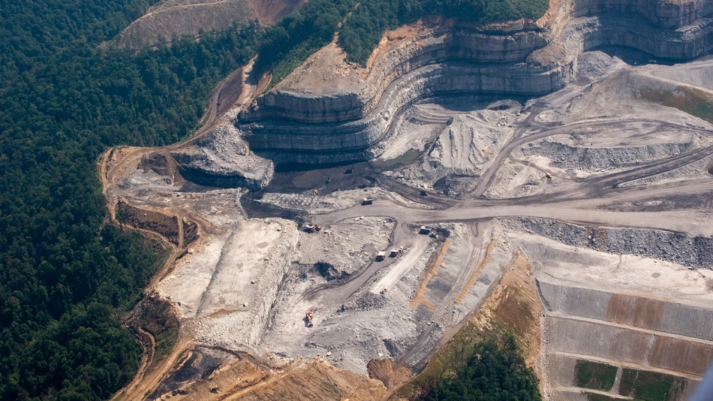 Mountaintop Removal Site in Pickering Knob, West Virginia