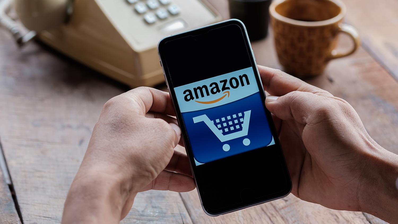 Shopping Amazon.com on iPhone while neglecting poor old landline phone