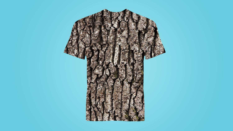Shirt made of bark