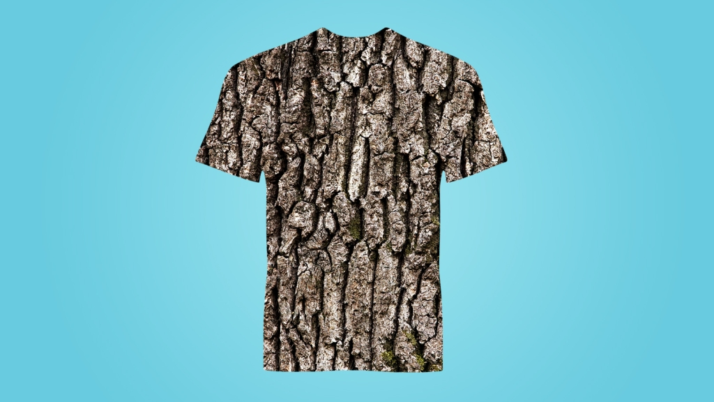 Shirt made of bark