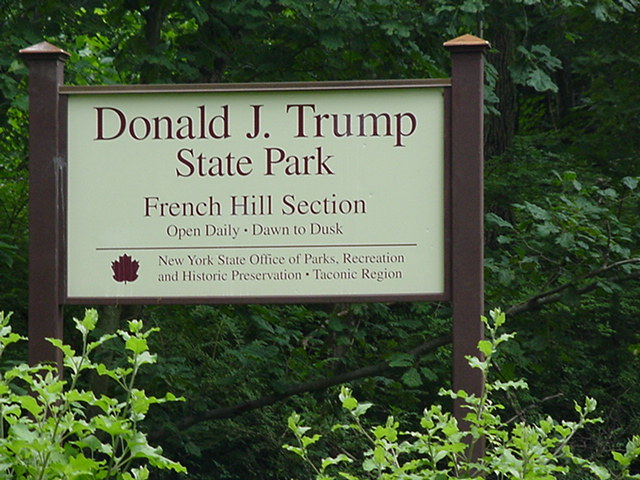 A sign for Donald J. Trump State Park