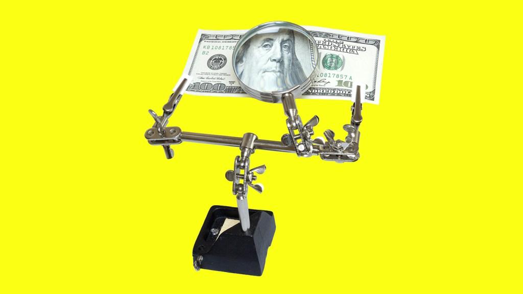 Money under a microscope