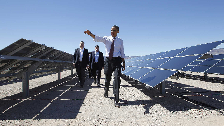 Obama and solar panels