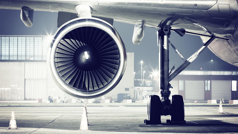 An airplane turbine