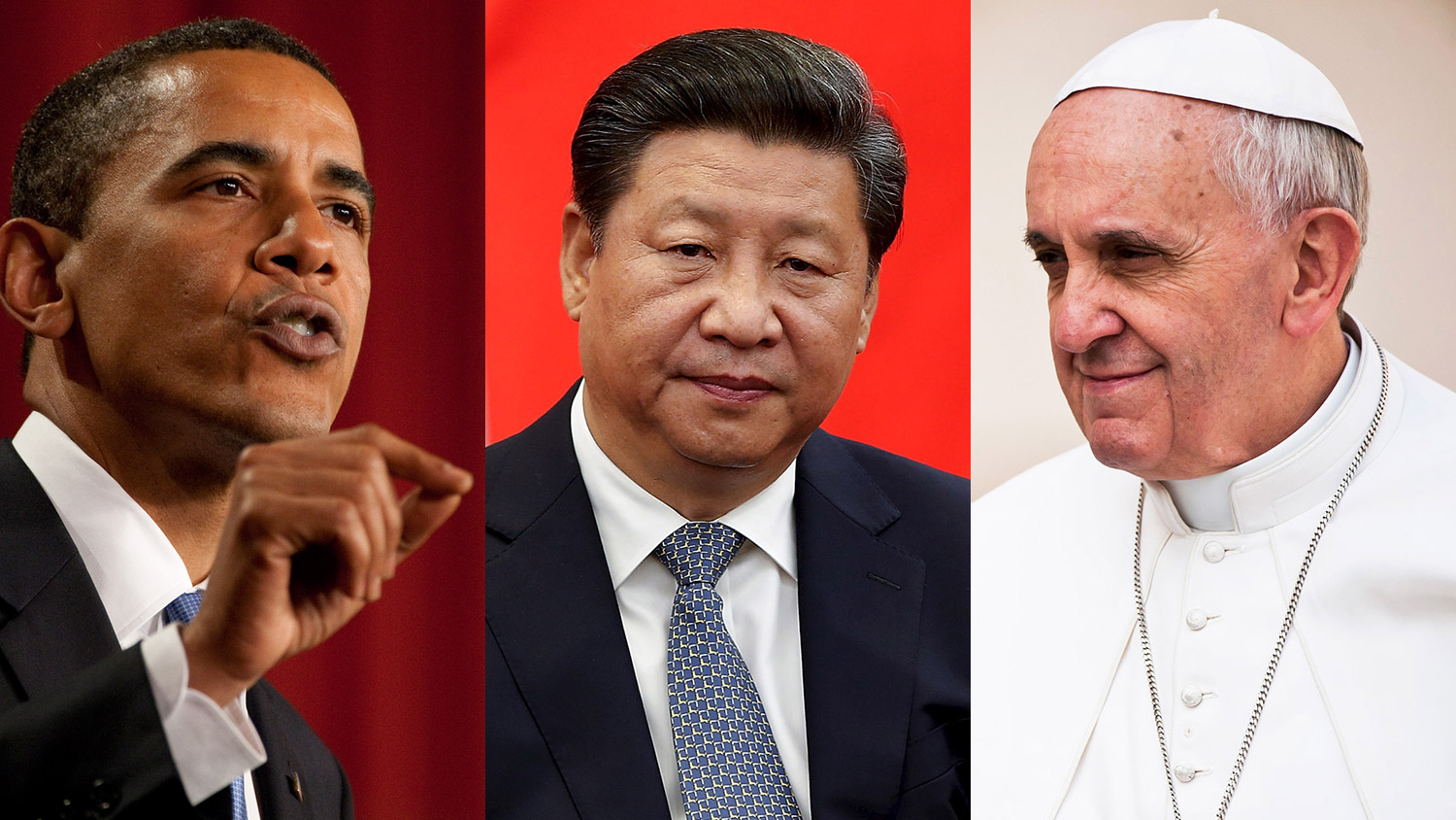 President Obama, President Xi Jinpin, and Pope Francis