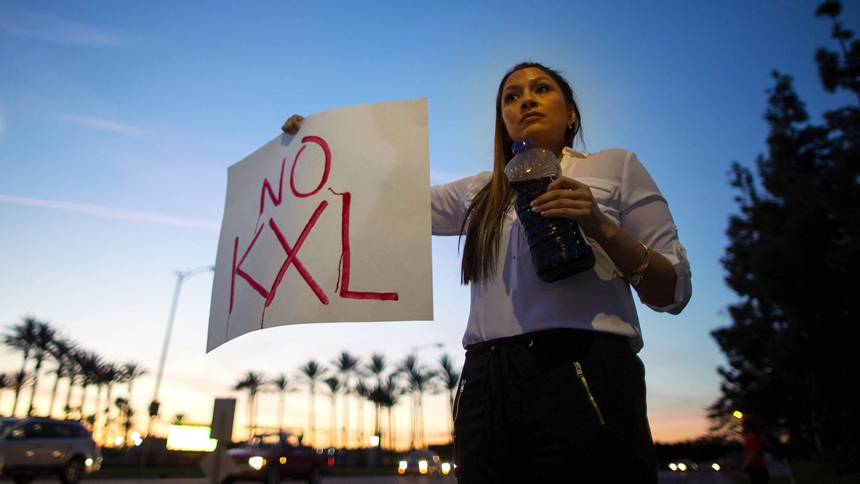 Terra Moore KillsMany protests against the Keystone XL Pipeline, in Arcadia, California