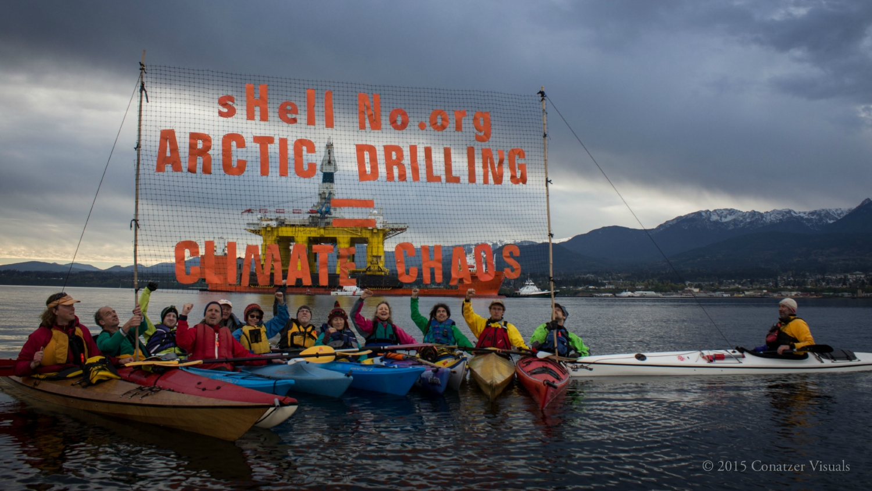 kayaktivists protest Shell