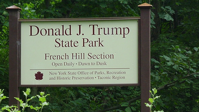 sign for Donald J. Trump State Park