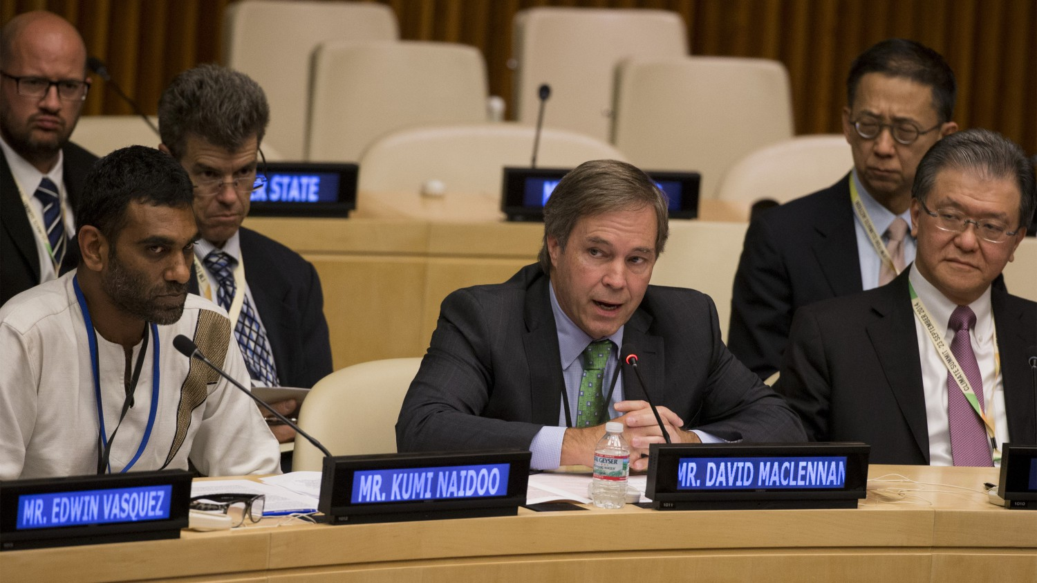 Cargill Chief Executive David MacLennan addressed the Climate Summit at the U.N. in 2014, after making a major commitment to end deforestation.