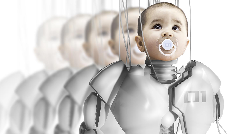 Child robot, creating clones, genetic engineering