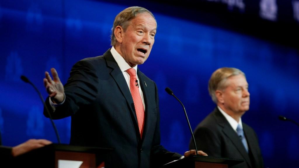 George Pataki and Lindsey Graham at debate