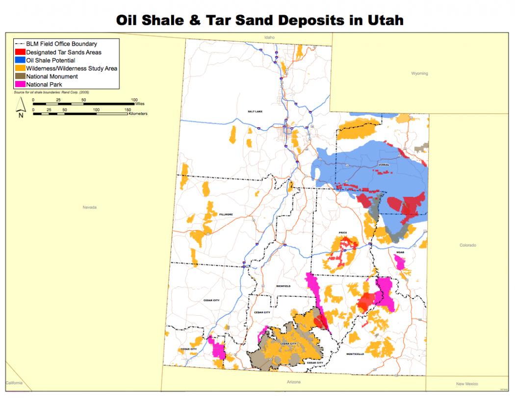 shale tar deposits