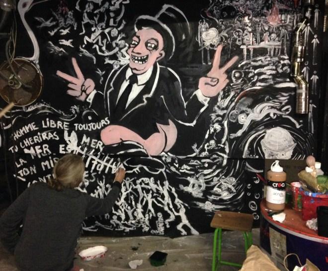 ant-capitalist mural