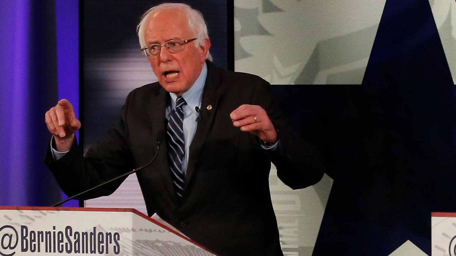 Bernie Sanders at debate