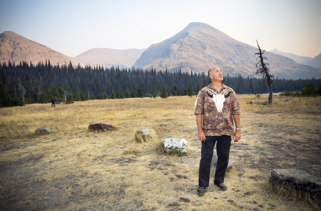 Jack Gladstone performs at Glacier National Park's Two Medicine campground