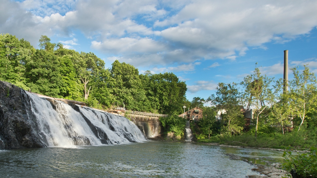 Chittenden Falls and hydro plant