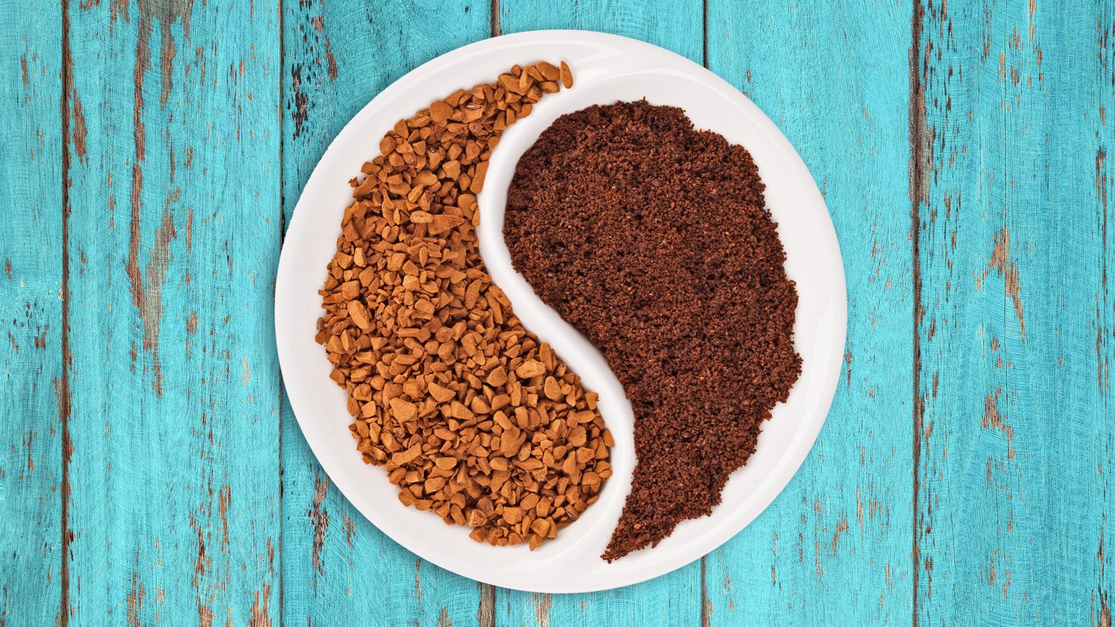Instant coffee vs. ground coffee