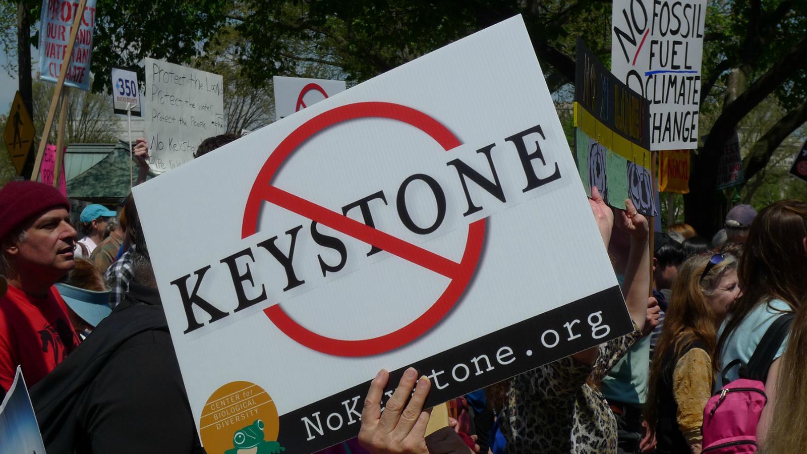 anti-Keystone sign
