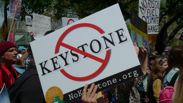 anti-Keystone sign