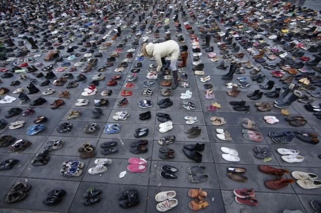 shoes in Place de la République