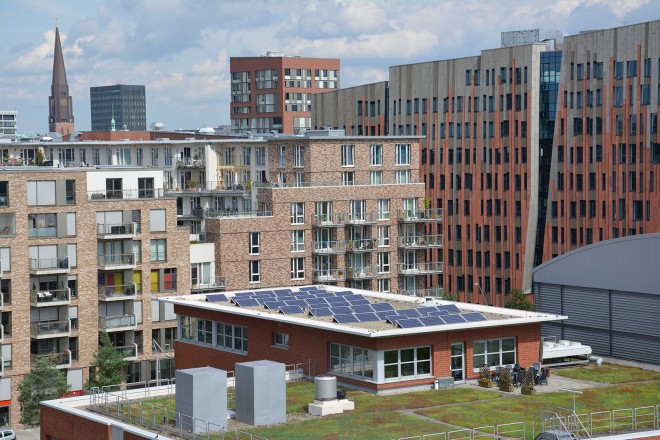 Solar power in HafenCity