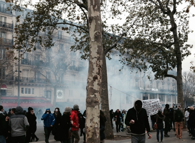 tear gas cloud