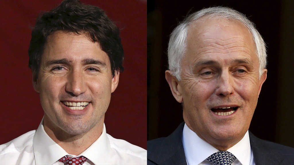 Justin Trudeau and Malcolm Turnbull