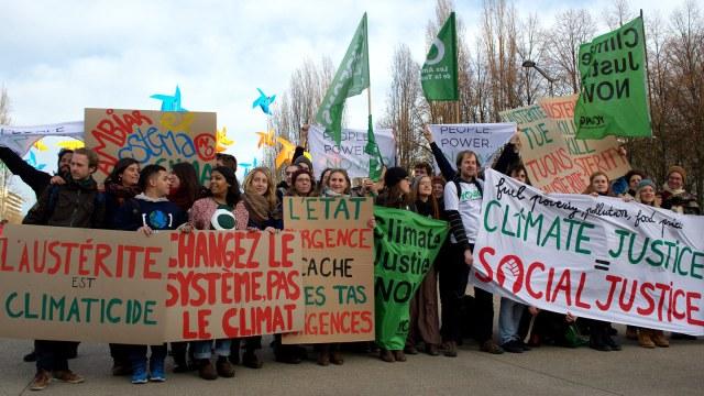 climate activists in Paris