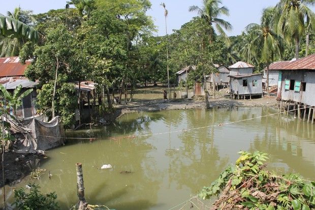 Cyclical flooding regularly inundates the delta region of Bangladesh, which may make it hard to determine if climate change causes a particular flood in the future.