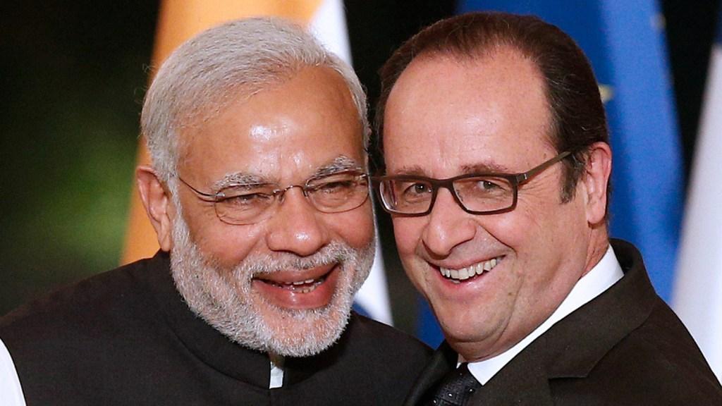 Indian Prime Minister Narendra Modi and French President François Hollande