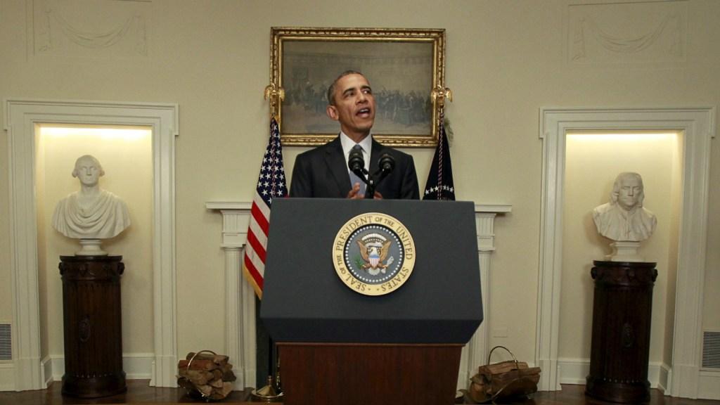 Obama speechifying