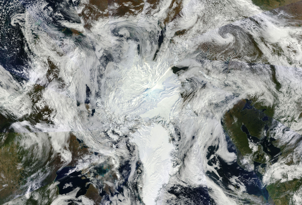 The Arctic, seen from above.
