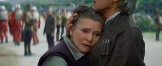 """General Organa (bka Leia) in """"The Force Awakens."""""""