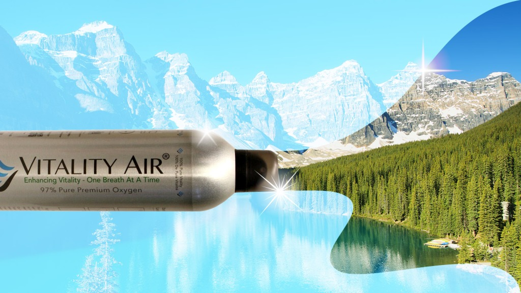 Vitality water and Canadian Rockies