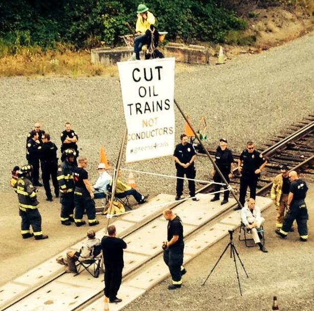 Delta railroad blockade