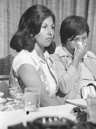 Gloria Molina (L) and Dolores Madrigal (R), plaintiffs in Madrigal v. Quilligan.