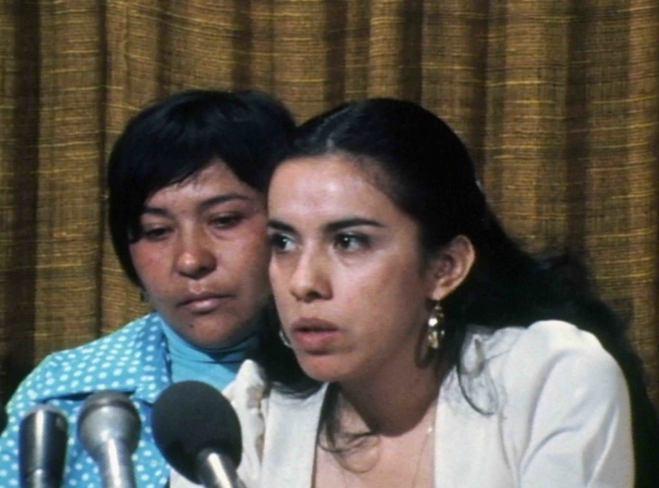 Antonia Hernandez (R), the prosecutor in Madrigal vs. Quilligan, and lead plaintiff Dolores Madrigal (L).