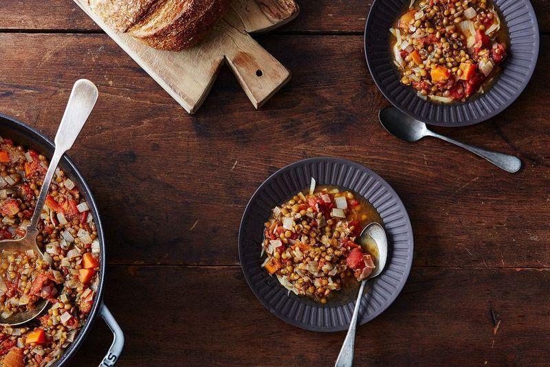 prepared lentils