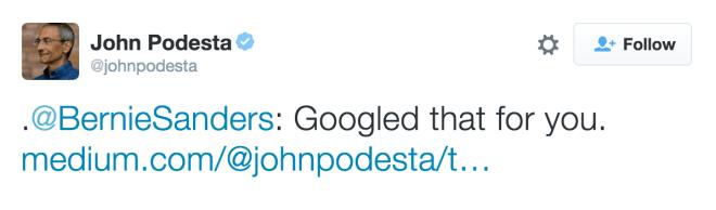 twitter screen shot John Podesta