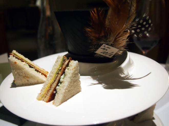 Toast sandwiches at U.K. restaurant The Fat Duck.