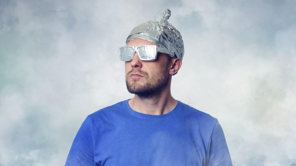 man in tin foil hat