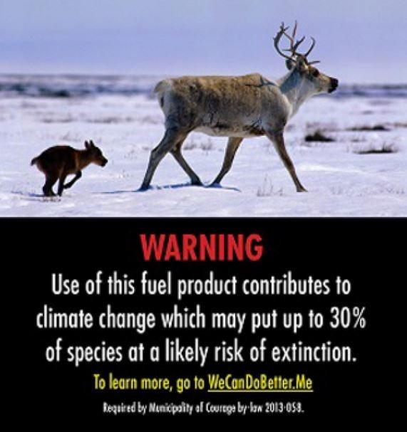 Gas Warning Label Caribou
