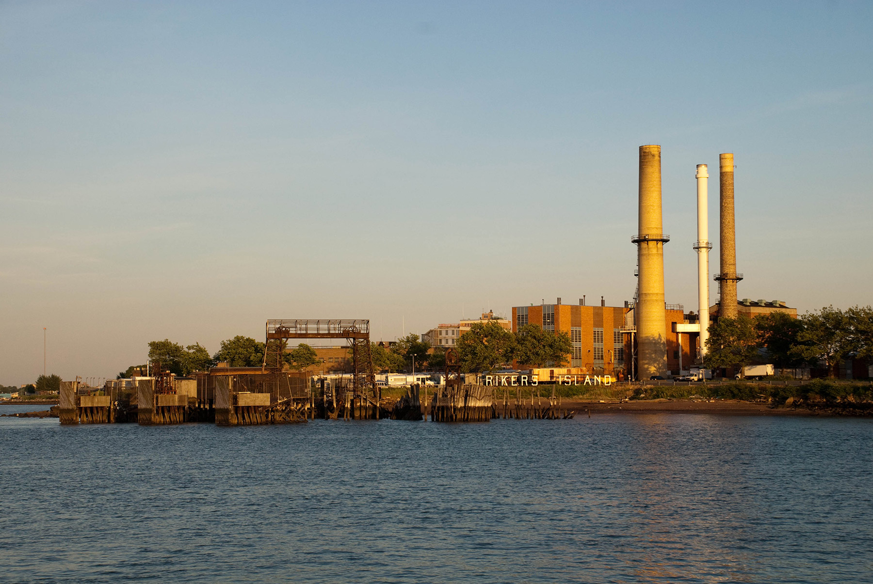 The power plant on Rikers Island