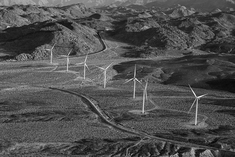 The Ocotillo Wind Farm is in Imperial Valley, near the Mexico border.
