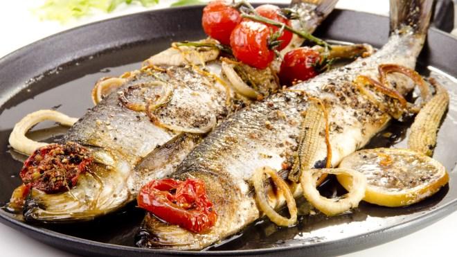 grilled herring