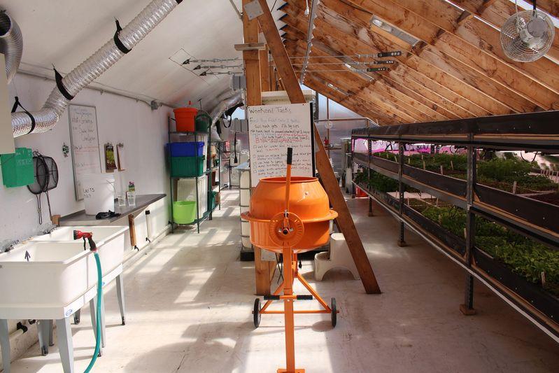 Edenworks's indoor farm in Brooklyn, N.Y.