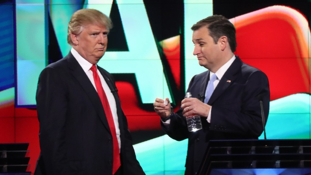 Donald Trump and Ted Cruz.